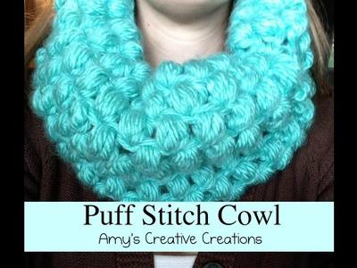 Crochet Puff Stitch Cowl Tutorial