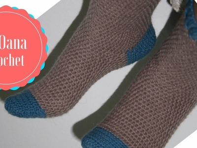 Crochet toe up socks without seam  by Oana