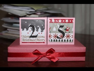 DIY Christmas Countdown Blocks inspired by Bethany Mota