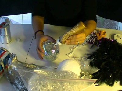 DIY Christmas Ornaments - Make your own Winter Wonderland and Feathery Glam Ornaments