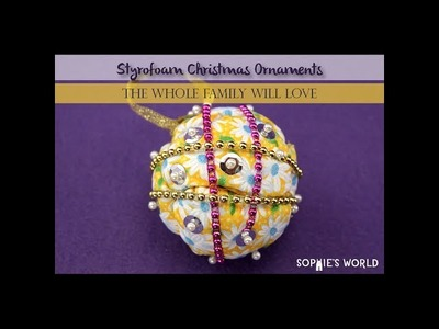 DIY Foam Christmas Tree Ornaments|Sophie's World
