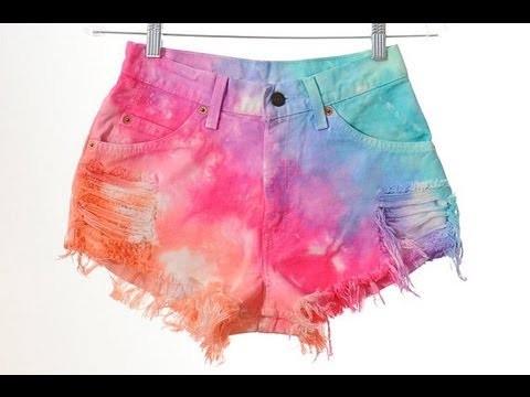 DIY Tie-Dye Shorts! |ElisabethBeauty1