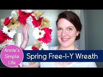 Dollar Tree Flower Wreath - Spring FREE-I-Y Collab