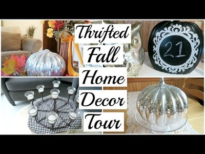 Fall Home Decor Tour   Thrifted