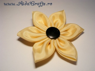 ✿ Floare din Material - Tutorial 2 - AidaCrafts