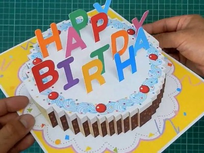 Happy Birthday Cake Pop Up Card Tutorial