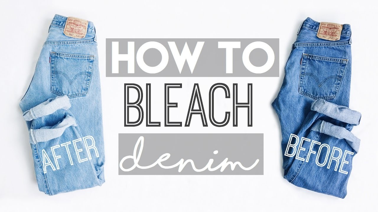 HOW TO: Bleach Denim (Thrifted Levi's)