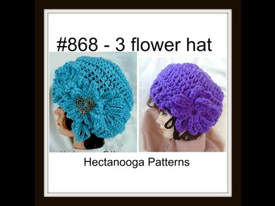 How to crochet a chunky adult hat, #868, free written pattern on my blog