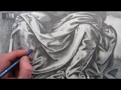 How To Draw Fabric Folds: Drawing based on Leonardo da Vinci