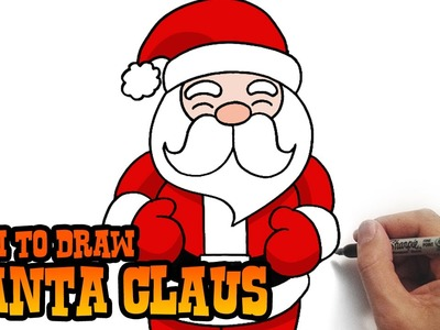 How to Draw Santa Claus- Simple and Easy Lesson