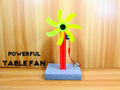 How to Make an Electric Table Fan using Bottle - Very Simple