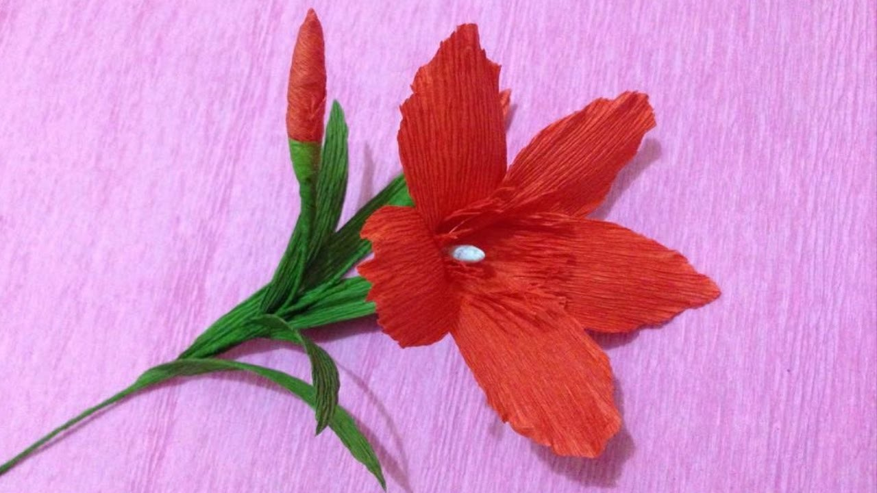 How to Make Nerium Oleander Paper flowers - Flower Making of Crepe Paper - Paper Flower Tutorial