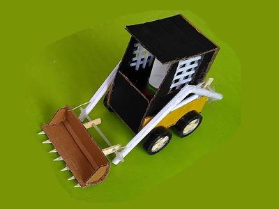 How to make  paper & cardboard Skid Steer Loader -  toy for kids story game