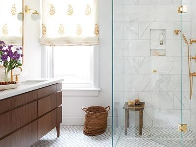 Interior Design – A Bright Bathroom Oasis With A Boho Vibe