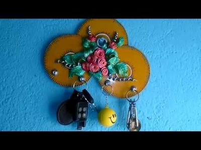 Key Holder Making (Step 14) : Hanging Key Holder after Finishing : Tutorial by My Hobby Center