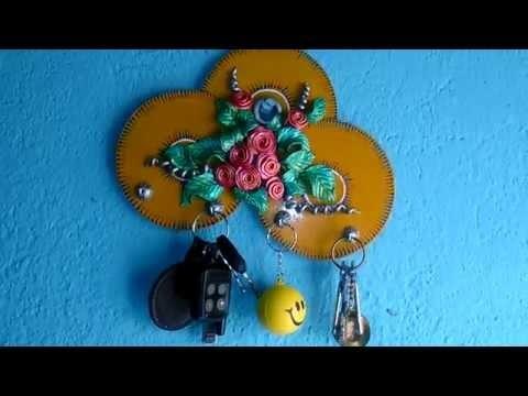 Key Holder Making (Step 14) : Hanging Key Holder after Finishing : Tutorial by My Hobby Center