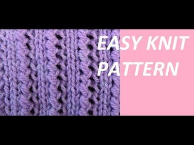 Knit Pattern * VERY EASY KNIT PATTERN *