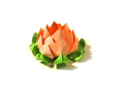 Lotus Flower Origami - Modular origami - Very easy - Valentine's Day gift