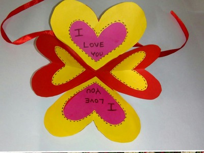 LOVE EXPLOSION HEART CARD. LOVE CARD