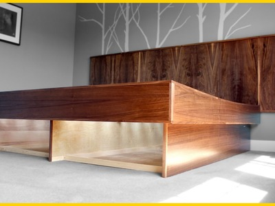 Make a Mid-Century Modern Bed Frame [ Part 2 - Frame ]