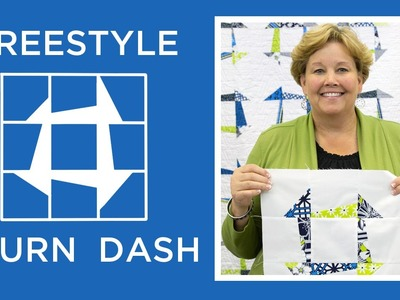 Make an Easy Freestyle Churn Dash Quilt