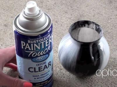 Marbled Glass Vase Tutorial