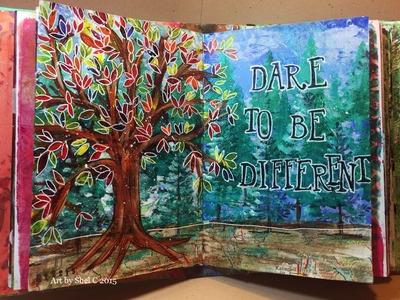 NaNoJouMo Art Journal Page - Trees - Nov. 22, 2015