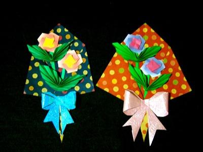 Origami Maniacs 214: Flower Bouquet 1. Ramo de Flores 1