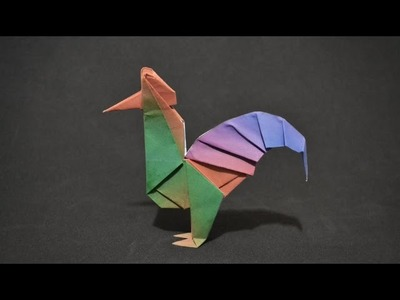 Origami: Rooster ( Wellington W ) - Instructions in English ( BR )