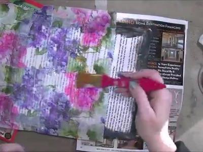 Paper Napkin Background Mixed Media Art Journal