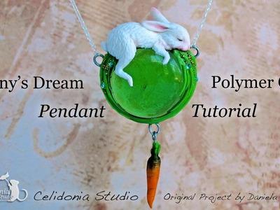 Polymer Clay Tutorial - Bunny Dream Pendant