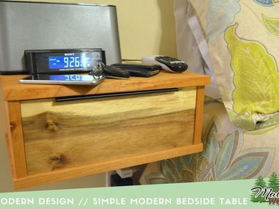 Rustic Modern Design. A Simple Floating Bedside Table