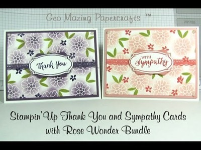 Stampin'Up  Thank You Card with Occasions 2016 Rose Wonder Stamp Set