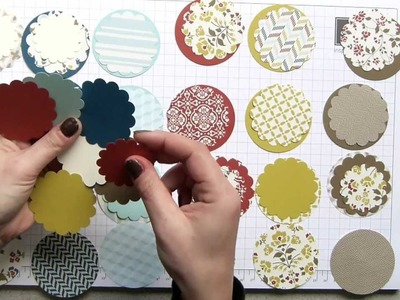 Stampin Up UK Large Scallop & Circle Punch Combinations