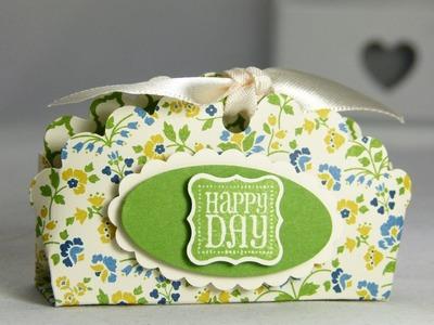 Stampin Up UK treat bag with scalloped circle