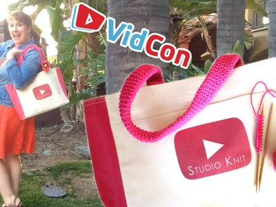 Summer Knitted Tote Bag at #VidCon2016