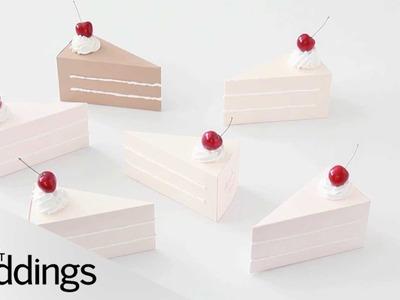 Turn a Cake Box Into a Creative Giveaway - Martha Stewart Weddings