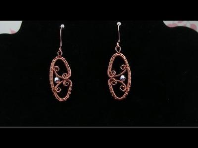 Wire Wrap Tutorial Filigree Crystal Earrings