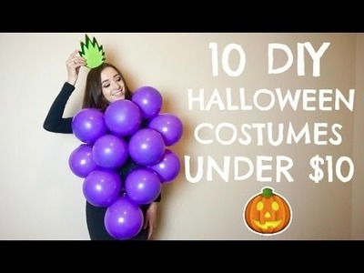 10 DIY LAST MINUTE HALLOWEEN COSTUMES UNDER $10