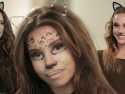 3 Halloween Cat Makeup Looks!