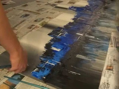 "Abstract Acrylic Painting #1 - ""Skyline"" by Daniel Grabski"