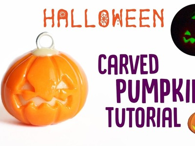 Carved Pumpkin│Polymer Clay Halloween Tutorial