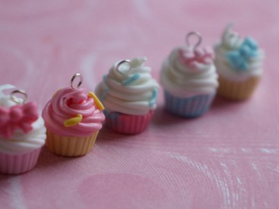 Cold Porcelain Cupcake Charm Update