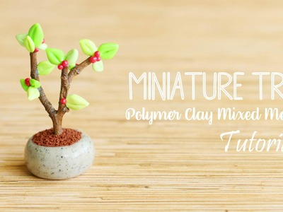 Cute Miniature Tree│Polymer Clay Mixed Media Tutorial