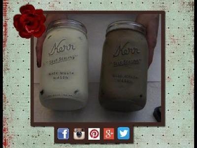 Distressing a mason jar