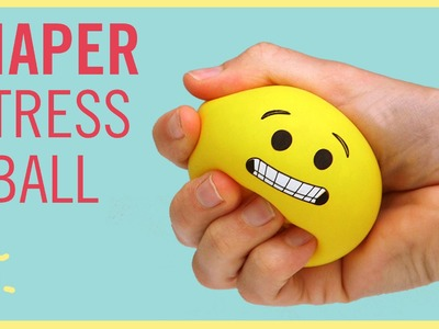 DIY | Emoji Stress Ball (made from a Diaper!!)
