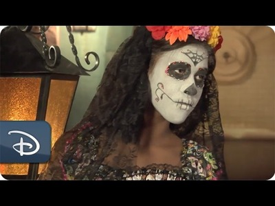 DIY Halloween: 'Day of the Dead' Make-Up Tutorial | Disney Parks