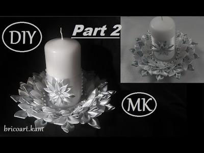 DIY.Kanzashi.Tutorial Part 2.Table centerpiece.Table decoration.MK.bricoart.kam
