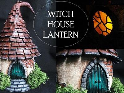 DIY Polymer Clay Witch House Lantern.Jar Tutorial. Maive Ferrando