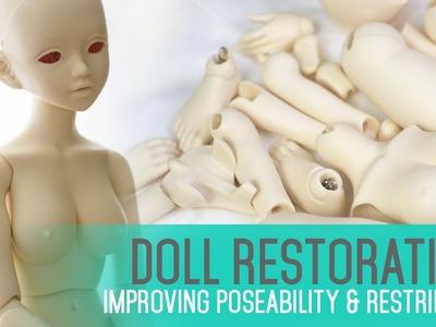 Doll Restoration and Maintenance - Improving poseability & restringing